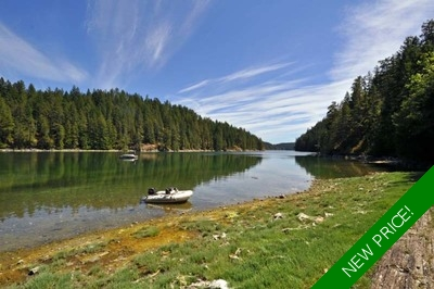 Cortes Island Oceanfront Acreage for sale: (Listed 2017-08-02)