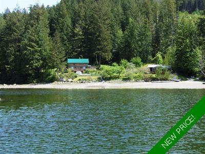 Desolation Sound Oceanfront Home & Dock for sale: 1,650 sq.ft. (Listed 2020-01-13)