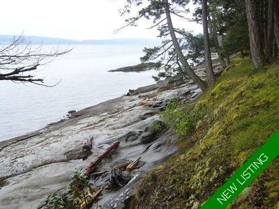 De Courcy Island Oceanfront Lot for sale: (Listed 2020-07-29)